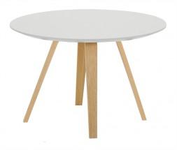Lola Ella - Konferenční stolek, bílá, dub (9315-054+9366-001)