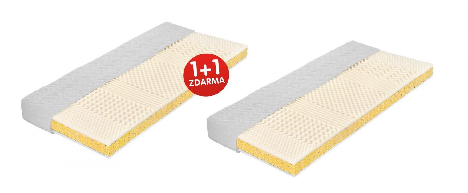 Ložnice ZLEVNĚNO Dena - Matrace, 1+1 zdarma (195x80x13,5)