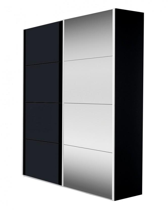 Ložnice ZLEVNĚNO Flavour 7093151 (antracit/křišťálové zrcadlo)