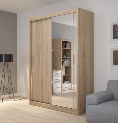 Ložnice ZLEVNĚNO Šatní skříň Miriam (150, dub sanremo)