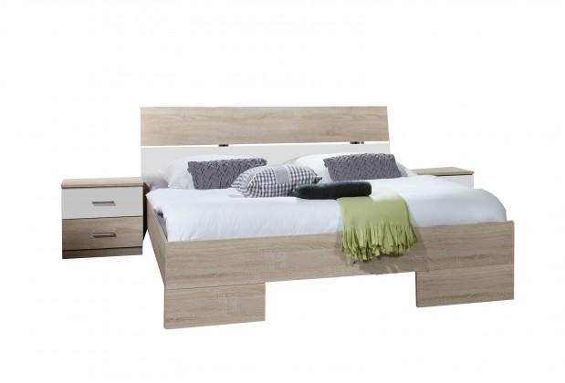 Ložnicová sestava Alina - komplet4, postel 180 (dub/alpská bílá)