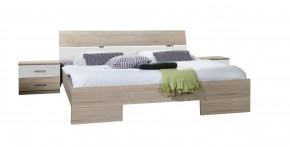Ložnicová sestava Alina - komplet6, postel 140 (dub/alpská bílá)