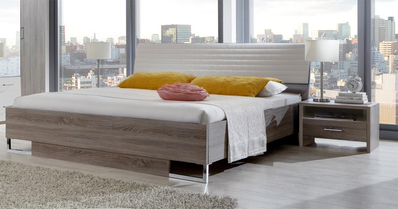 Ložnicový komplet Corfu - Komplet, postel 180cm (dub montana, alpská bílá)