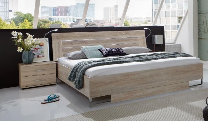 Ložnicový komplet Davos - Komplet 3, postel 180 cm (dub)