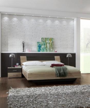 Ložnicový komplet Dora - komplet, postel 160cm (dub, wenge)