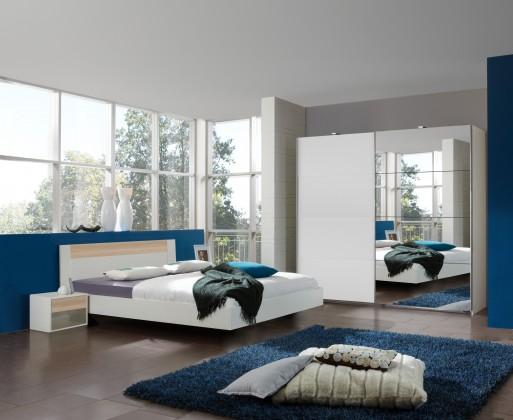 Ložnicový komplet Ilona - Komplet 7, postel 160 cm (alpská bílá, buk)