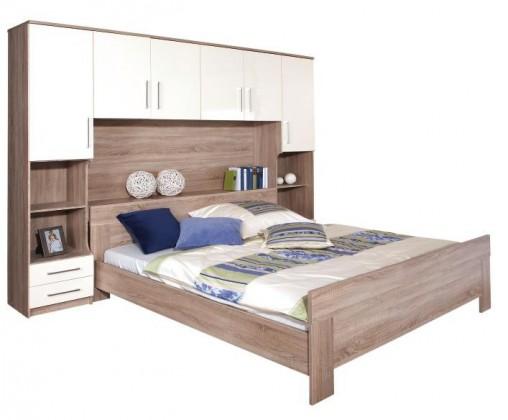 Ložnicový komplet Ivory - komplet, postel 180cm (dub, slonová kost)