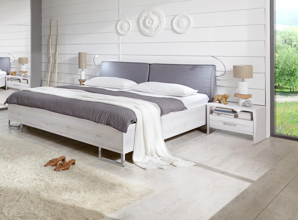 Ložnicový komplet Kampen - komplet, postel 180cm (bílý dub)
