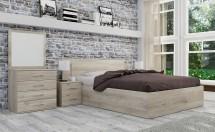Ložnicový komplet Ramon-rám postele, komoda, 2 noční stolky