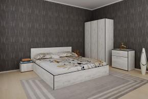 Ložnicový komplet Tarja-rám postele,skříň,komoda,2 noční stolky