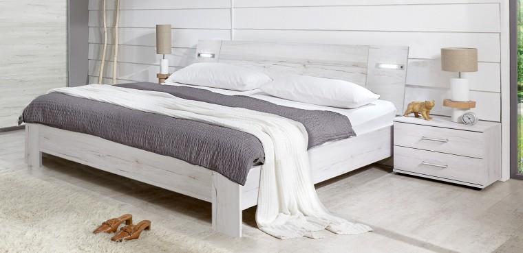 Ložnicový komplet Vicenza - Komplet, postel 160 cm (dub bílý)