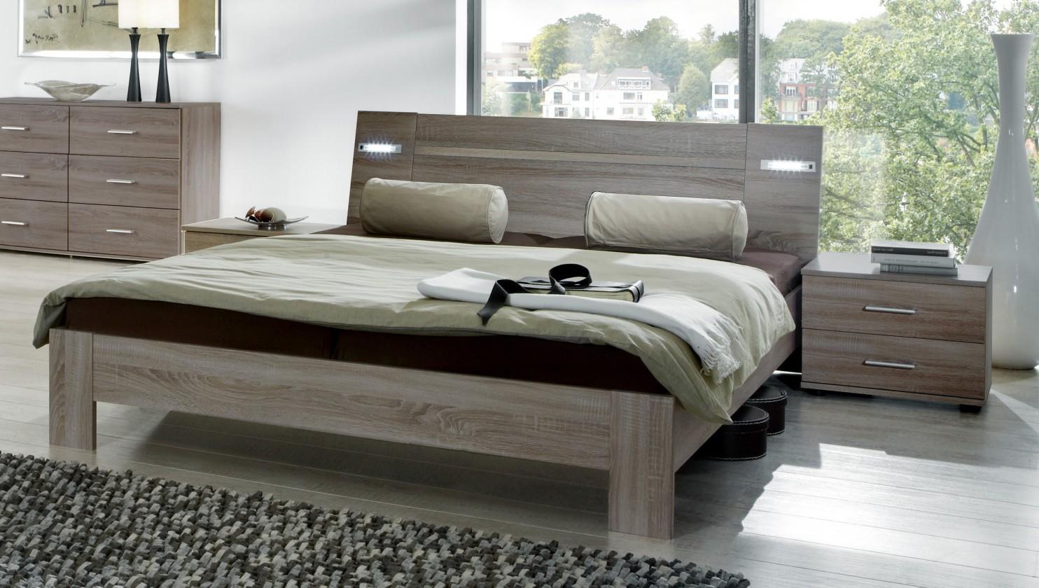 Ložnicový komplet Vicenza - Komplet, postel 160 cm (dub montana)