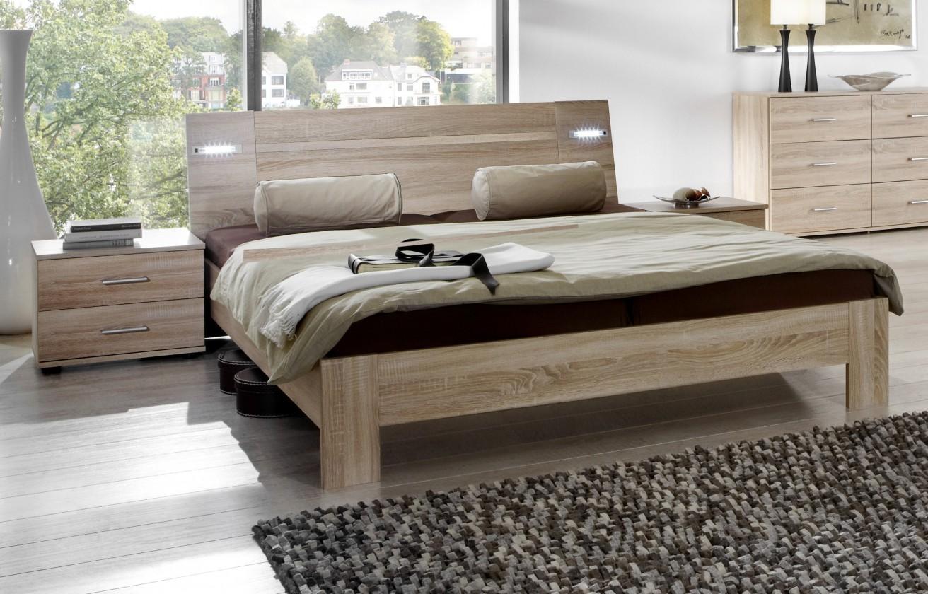 Ložnicový komplet Vicenza - Komplet, postel 180 cm (dub)