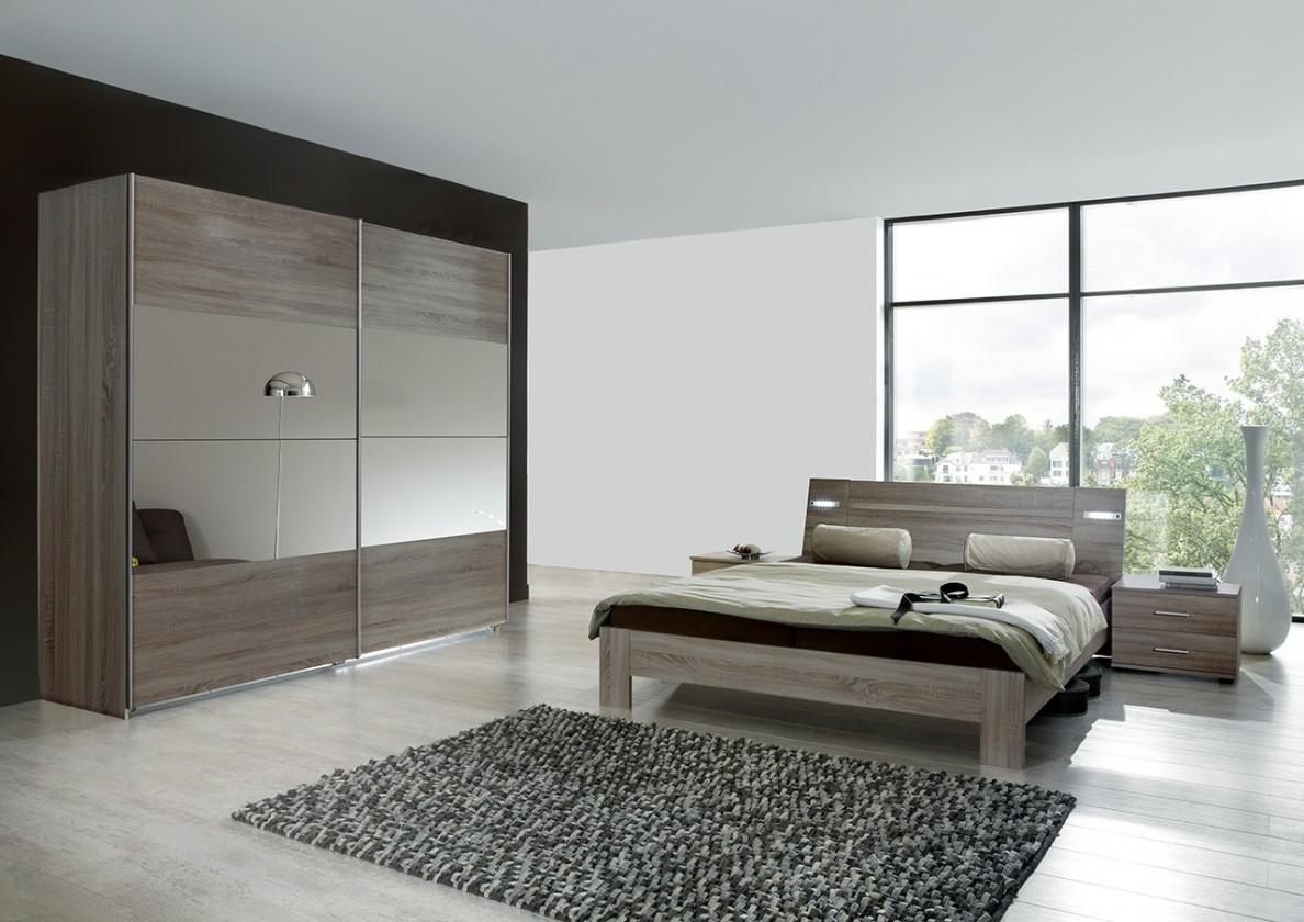 Ložnicový komplet Vicenza - Komplet velký 4, postel 160 cm (dub montana)