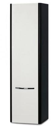 Lucy - Závěsná skříňka vysoká SD 274 (bílá lesk/wenge)