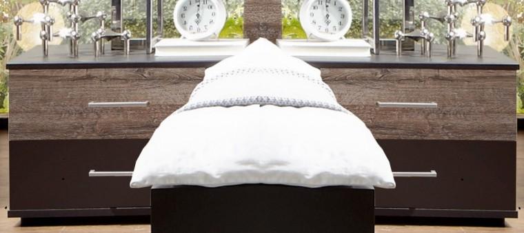 Madeira - Noční stolek 2ks (dub/láva)
