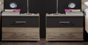 Madrid - Noční stolek 2x (dub san remo/lava černá)
