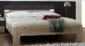 Madrid - Postel 160 cm (dub san remo/lava černá)