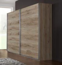 Madrid - Šatní skříň, 2x posuvné dveře (dub san remo)