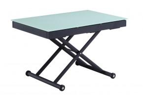 Maestro - Stůl 120-255x80 (dub sonoma, černá ocel, mléčné sklo)