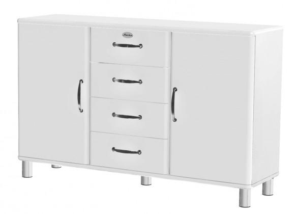 Malibu - komoda, 2x dveře, 4x zásuvka