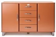Malibu - Komoda (měděná, 2x dveře, 4x zásuvka)