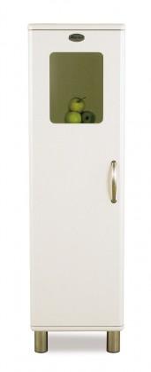 Malibu - Vitrína (bílá, 1x dveře)