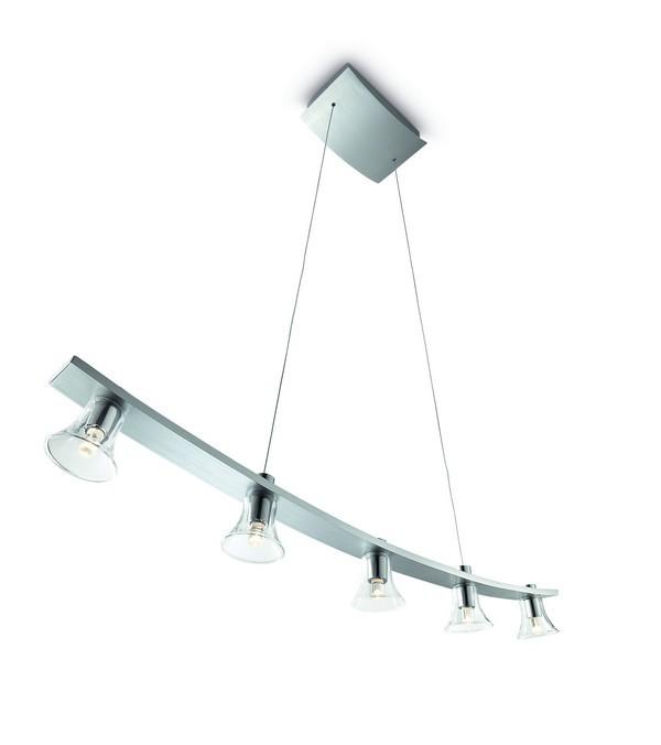Mambo - Stropní osvětlení LED, 83,4cm (matný chrom)