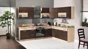 Marina - Rohová kuchyně 285x210 (rijeka tmavá/rijeka světlá)