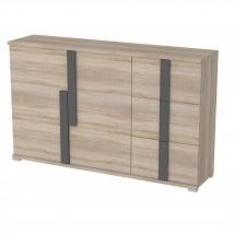 Markus - Komoda, 3x zásuvka, 2x dveře (dub sonoma)