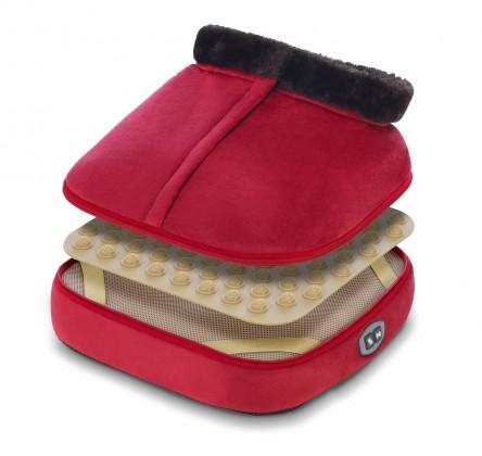 Masáže Vyhřívací bota Wellneo 3v1, červená