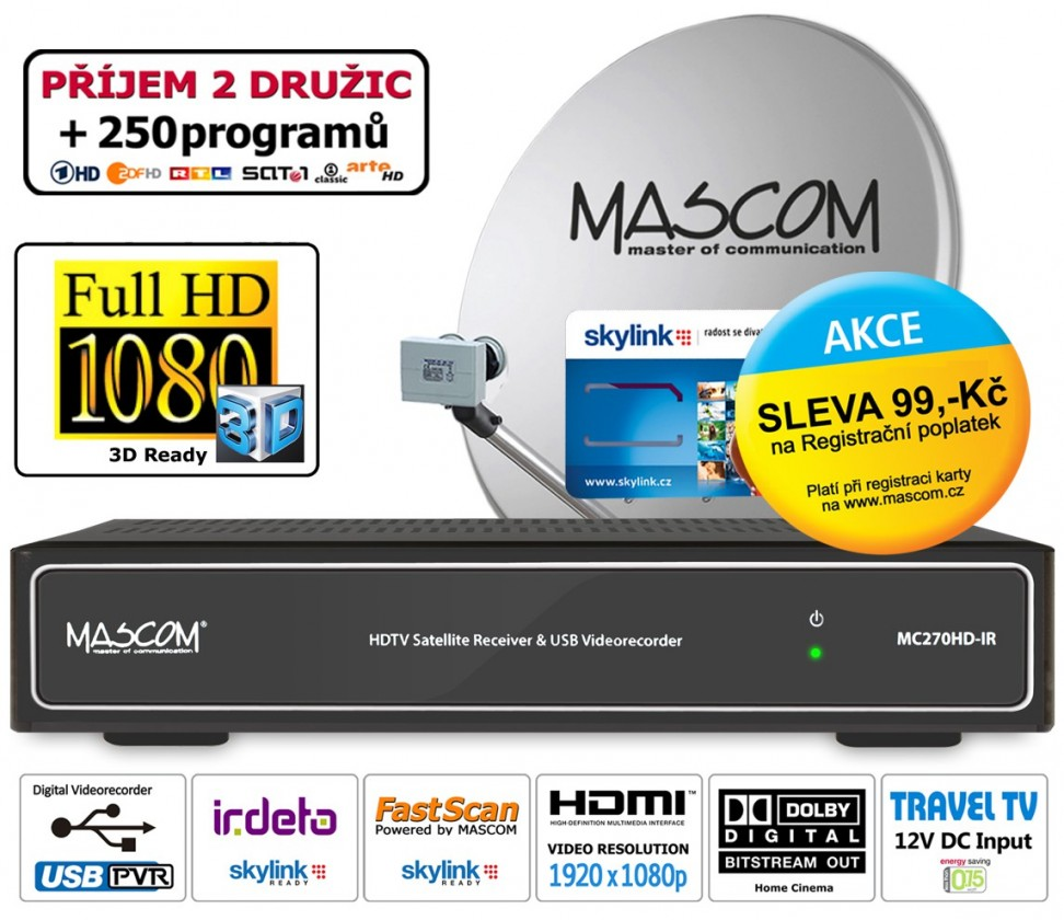 Mascom sat.set MC270/80MBL+M7