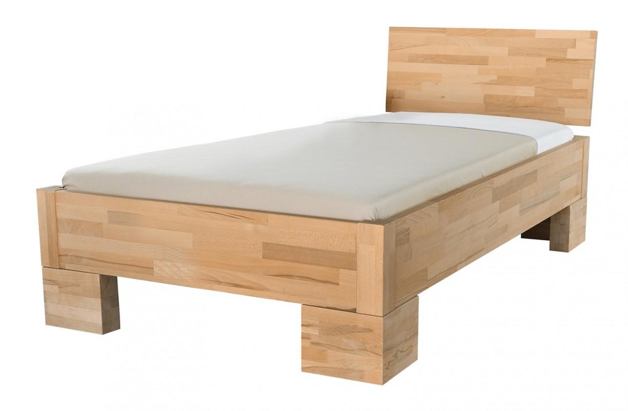 Masivní Alba - rám postele, zvýšená (rozměr ložné plochy - 200x100)