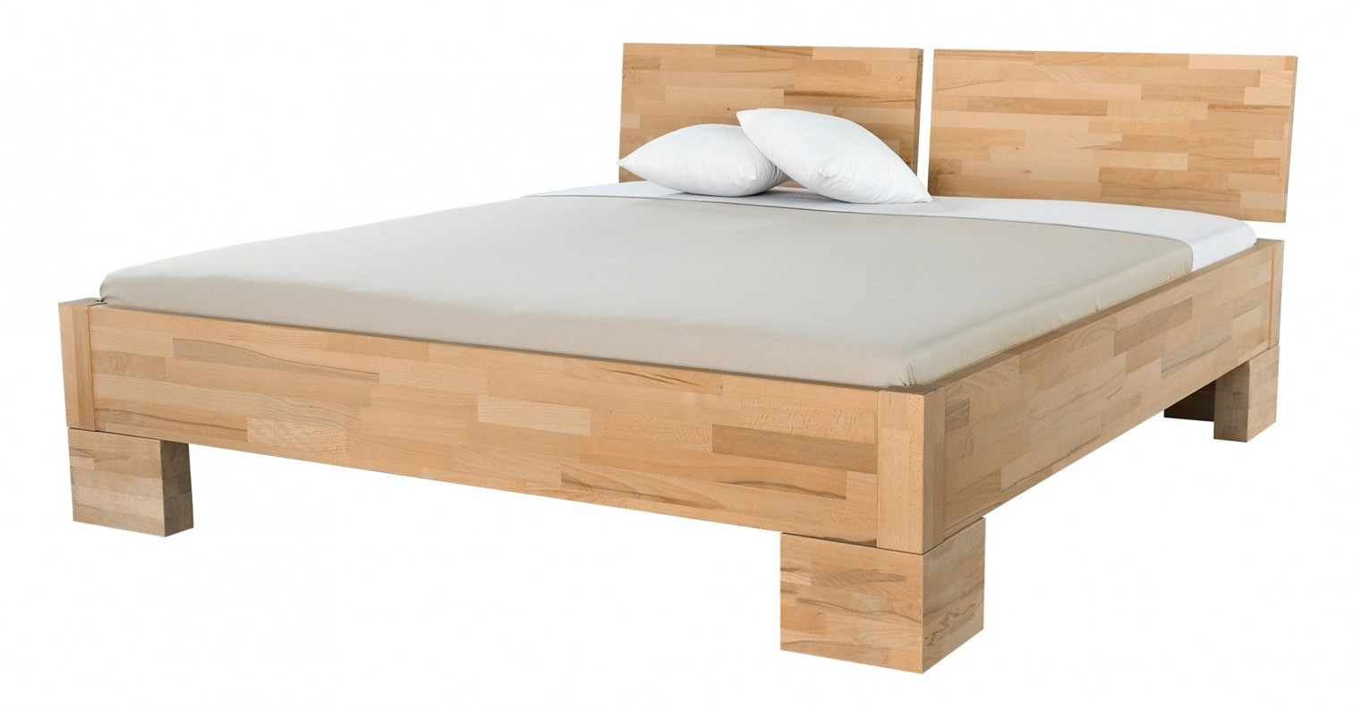 Masivní Alba - rám postele, zvýšená (rozměr ložné plochy - 200x120)