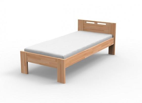 Masivní Augusta - Rám postele 90x200, rošt (masiv buk, přírodní lak)