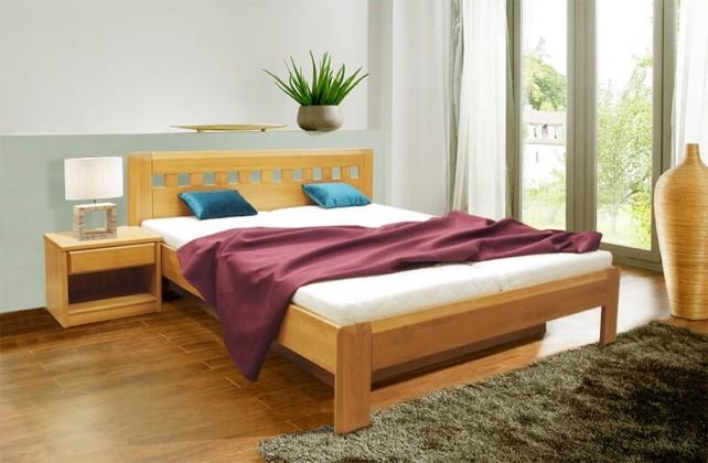Masivní Camira Lux 2 - 200x180, výklopné rošty, úložný prostor
