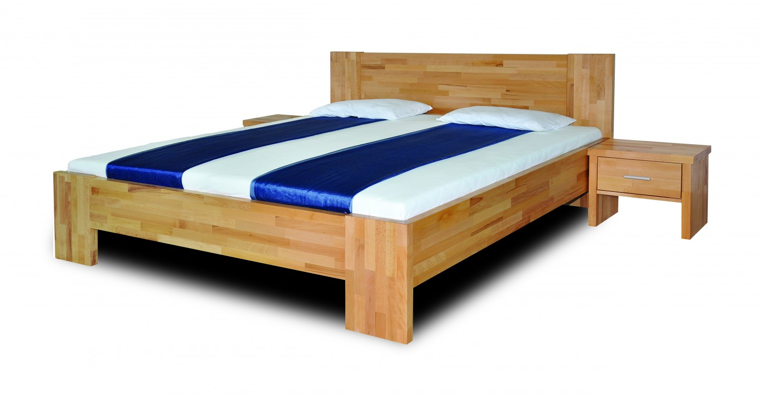 Masivní Fortuna - rám postele (rozměr ložné plochy - 200x120)