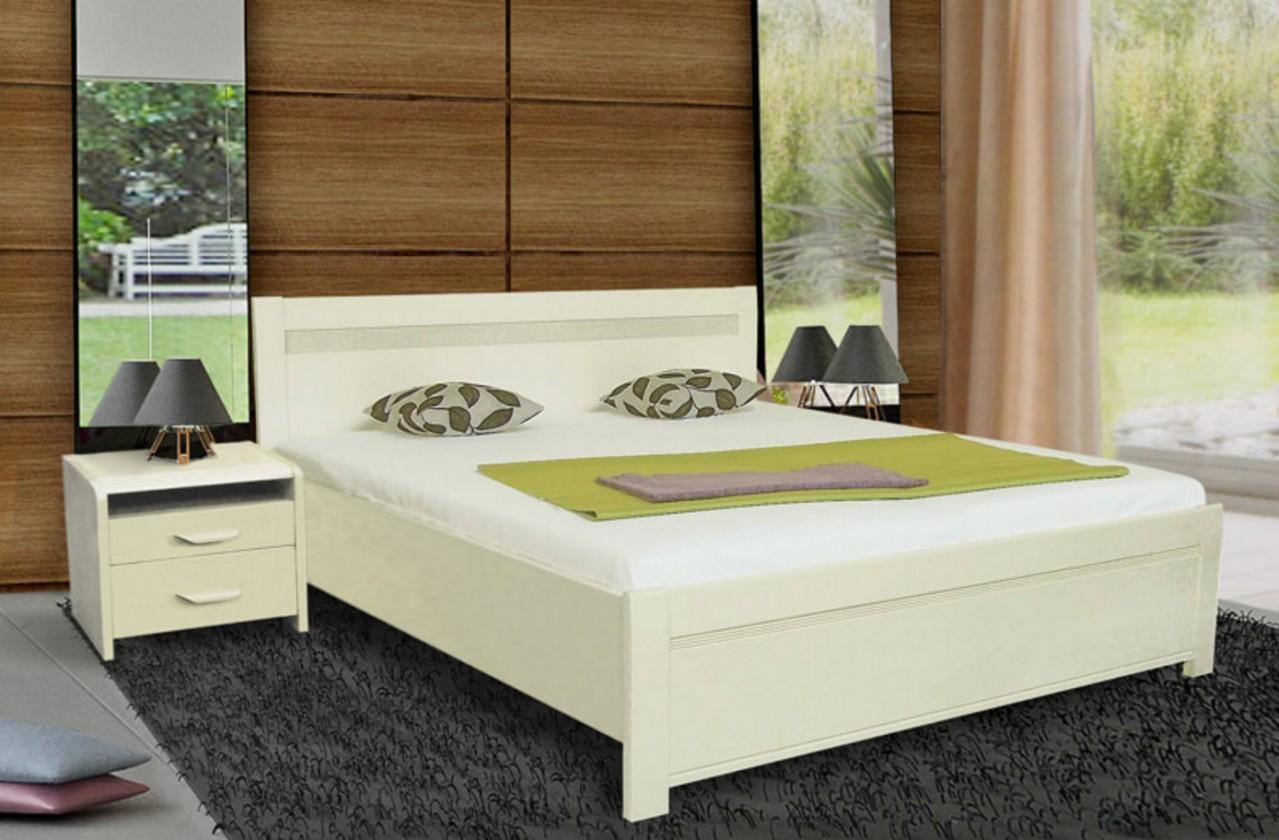 Masivní Nada 2 - rám postele 200x160, úložný prostor, výklopný rošt
