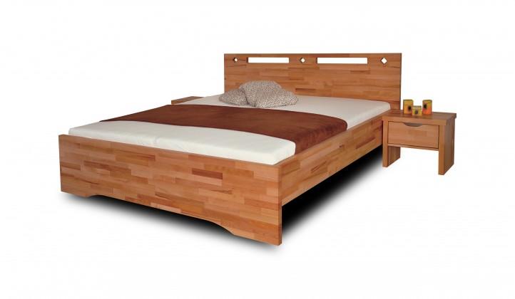 Masivní Olympia - rám postele (rozměr ložné plochy - 200x100)