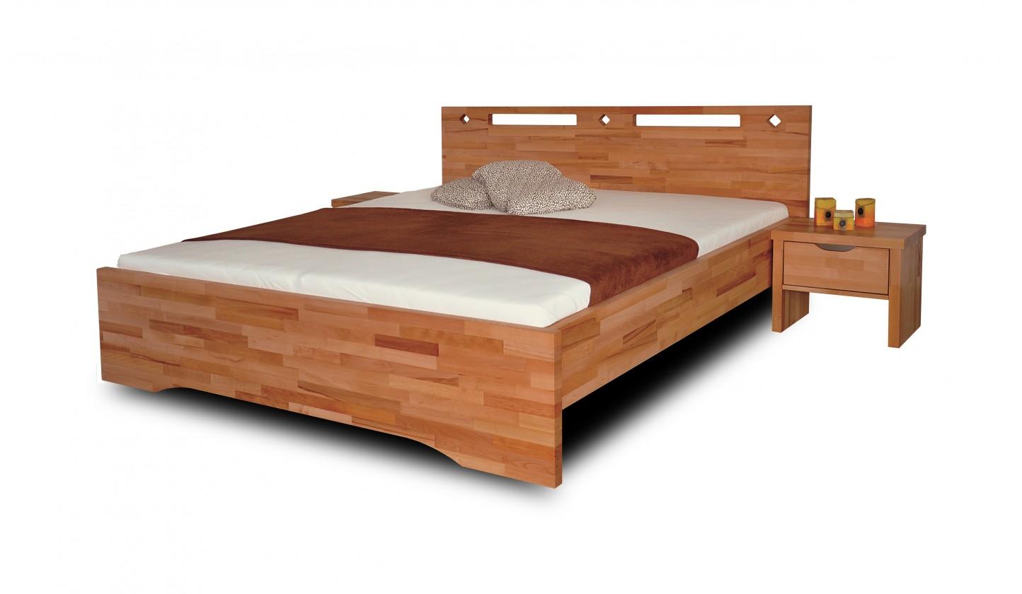 Masivní Olympia - rám postele (rozměr ložné plochy - 200x120)