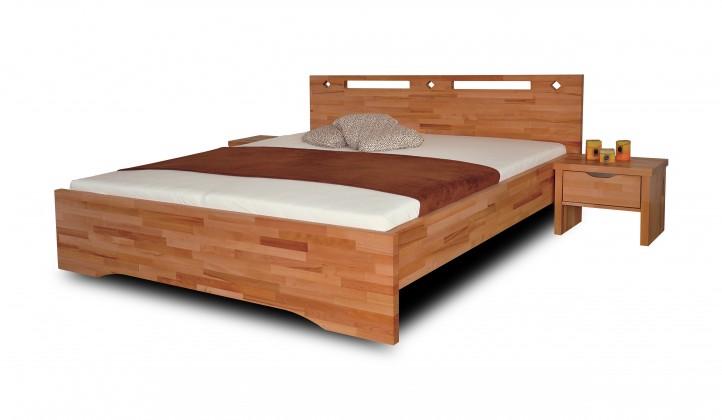 Masivní Olympia - rám postele (rozměr ložné plochy - 200x140)