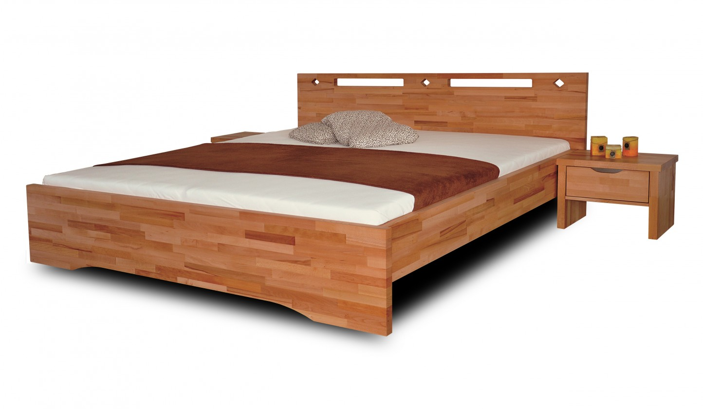 Masivní Olympia - rám postele (rozměr ložné plochy - 200x180)