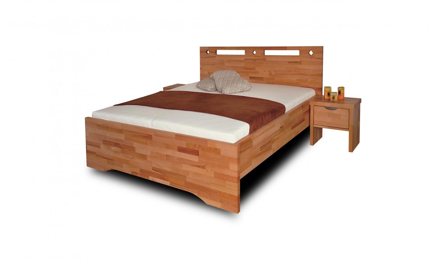 Masivní Olympia - rám postele (rozměr ložné plochy - 200x80)