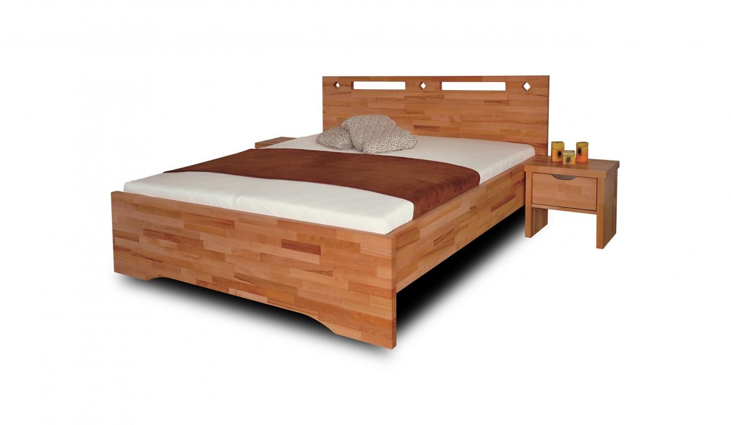 Masivní Olympia - rám postele (rozměr ložné plochy - 200x90)