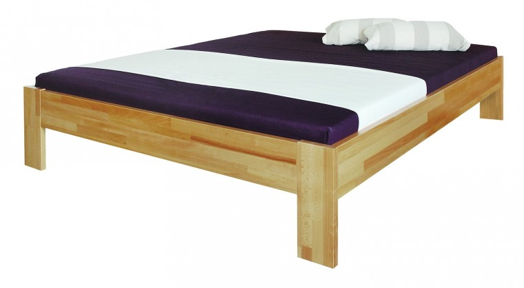 Masivní Uni - rám postele (rozměr ložné plochy - 200x180)