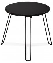 Mat - Přístavný stolek kulatý (černá, kov)