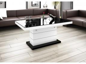 Matera Lux - Konferenční stolek (černá lesk/bílá lesk)