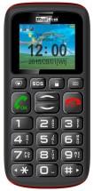 Maxcom MM428 Dual SIM, černá/červená