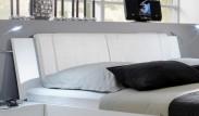 Medina - Polstrované čelo na postel 180 cm (alpská bílá)