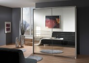 Medina - Šatní skříň 2, 2x posuvné dveře (alpská bílá)